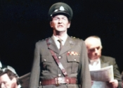 Andrew as Peron in 'Evita'